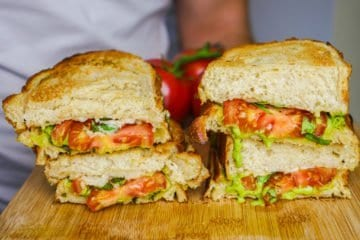 Vegan Pesto Tomato Sandwich