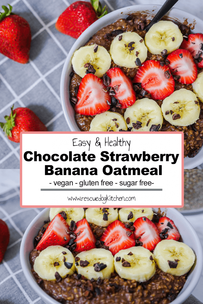 Healthy Chocolate Strawberry Banana Pinterest Pin