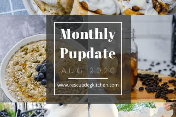 Monthly donation pupdate for rescue dog kitchen for the month of august