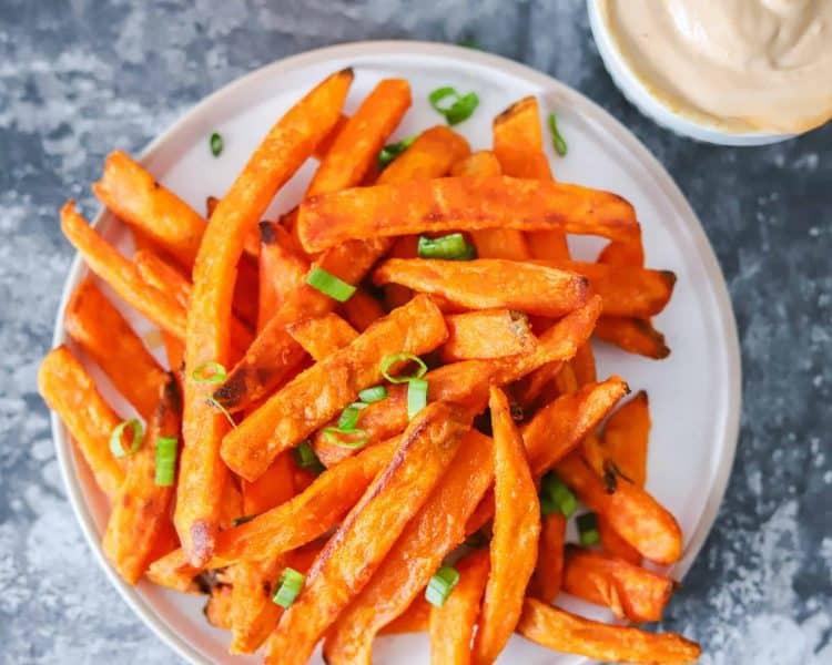 Frozen Sweet Potato Fries in Air Fryer