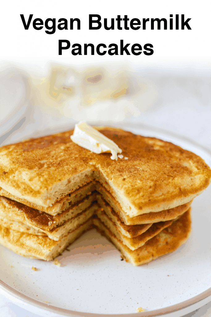 vegan buttermilk pancakes pinterest pin